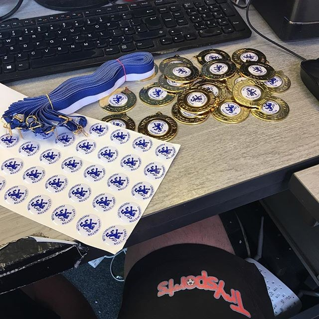 Printed medals ready for end of year awards